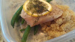 Broiled snapper and quinoa