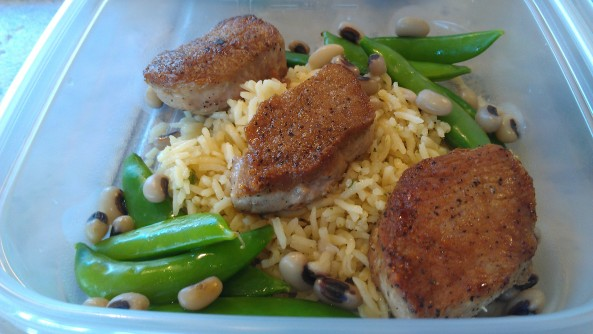 Seared pork medallions picture
